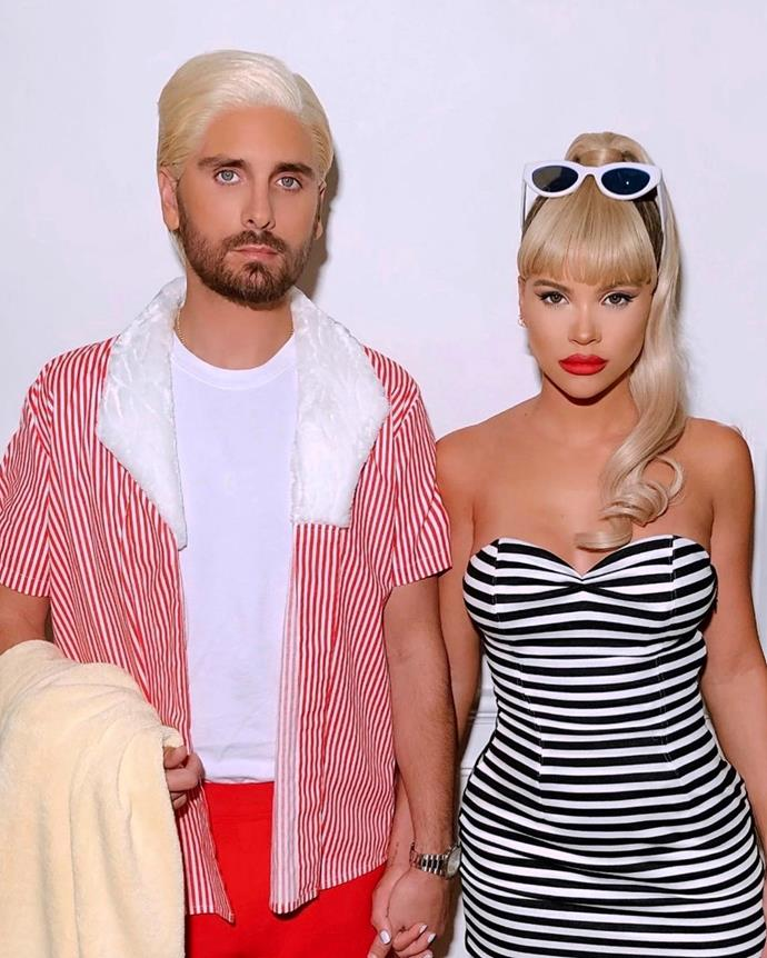 Sofia Richie and Scott Disick and Barbie and Ken.