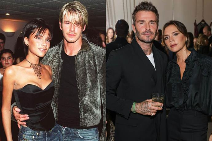 **Victoria and David Beckham**<br><br>  The soccer star and singer-turned-designer started dating in 1997 after meeting at a charity football match, and were married in July 1999. They have four children—Brooklyn, Romeo, Cruz and Harper.