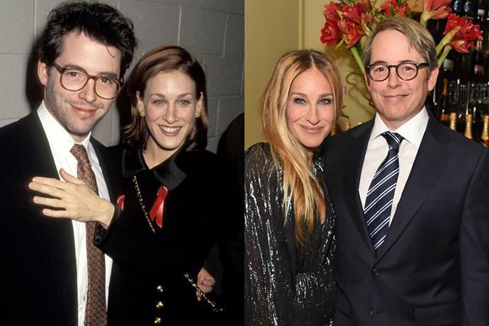 **Sarah Jessica Parker and Matthew Broderick**<br><br>  The *Sex and the City* star dated both Robert Downey, Jr. and the late John F. Kennedy, Jr. before getting together with actor Matthew Broderick. They were married in 1997 and welcomed a son in 2002, along with twin daughters in 2009.