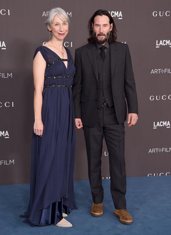 Grant and Reeves at the LACMA Art + Film Gala in L.A. on November 2, 2019.