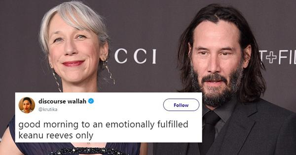 Keanu Reeves And His New Girlfriend Have Sparked So Many Memes Elle Australia