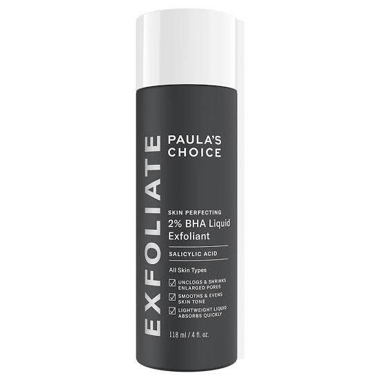 "**2% BHA Liquid Exfoliant by Paula's Choice, $38 from [Paula's Choice](https://www.paulaschoice.com.au/skin-perfecting-2pct-bha-liquid-exfoliant/201.html|target=""_blank""