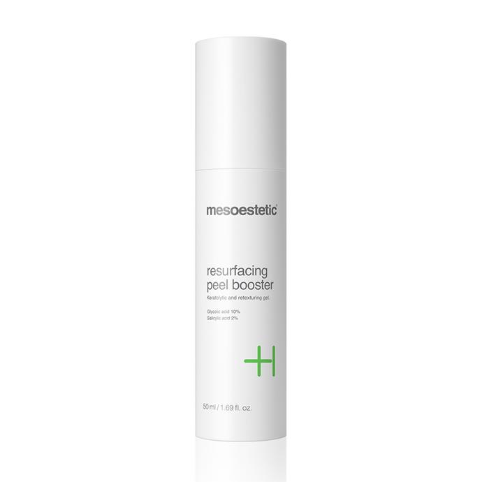 "**Resurfacing peel booster by Mesoestetic, $114 from [Adore Beauty](https://www.adorebeauty.com.au/mesoestetic/mesoestetic-resurfacing-peel-booster.html|target=""_blank""