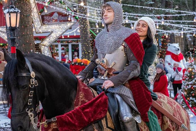 ***The Knight Before Christmas***<br><br>  Did someone order a cheesy holiday romance with a side of extra, um, cheese? Well, it's coming for you on November 21, when *The Knight Before Christmas* drops on Netflix. Plot-wise, this charming holiday story tells the tale of medieval knight Sir Cole, who is magically transported to modern-day Ohio during holiday season, where he befriends Brooke (Vanessa Hudgens), a science teacher and hopeless romantic. Cue: all of the cheese.