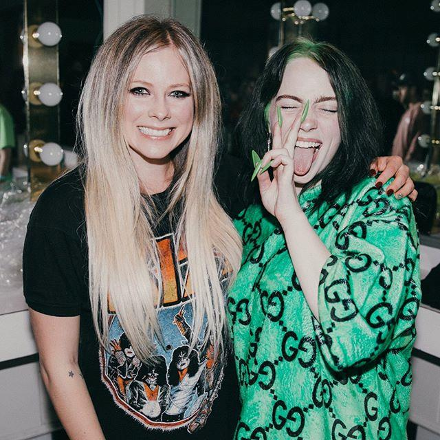 "**Billie Eilish meeting Avril Lavigne** <br><br> Though she's the most popular teenage star on the planet, 17-year-old Billie Eilish couldn't contain her excitement when she met fellow rocker Avril Lavigne for the first time in July 2019. <br><br> The ""Bad Guy"" singer posed alongside Lavigne (who came up in the music industry at around the same age as Eilish did) for an adorable Instagram picture, which Eilish captioned: ""THANK YOU FOR MAKING ME WHAT I AM."" <br><br> *Image: Instagram [@billieeilish](https://www.instagram.com/p/Bz1GZZJFvG4/