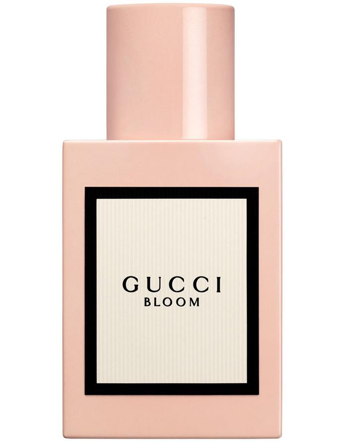 "**Bloom by Gucci, EDP, $115 to $205 from [Myer](https://www.myer.com.au/p/gucci-bloom|target=""_blank""