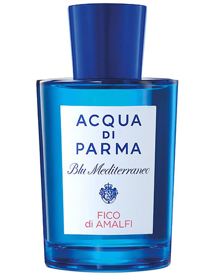 "**Blu Mediterraneo Fico di Amalfi by Aqua Di Parma, EDT, $131 to $196 from [Myer](https://www.myer.com.au/p/blue-mediterraneo-fico-edt|target=""_blank""