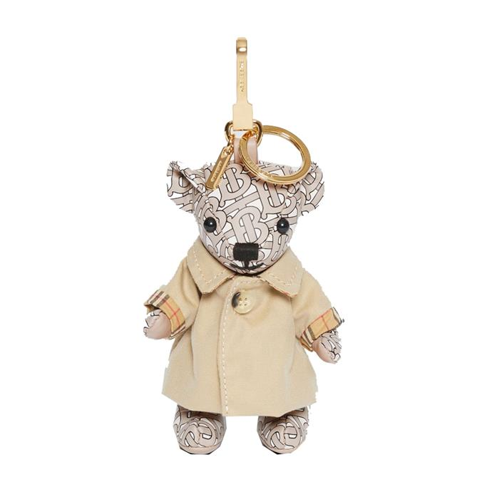 "Keychain, $460 by [Burberry](https://au.burberry.com/thomas-bear-charm-in-trench-coat-p80151021|target=""_blank""