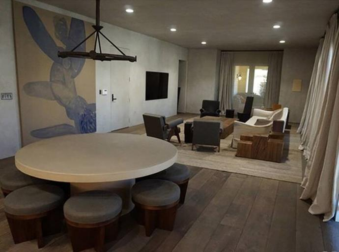 The dining and living room.