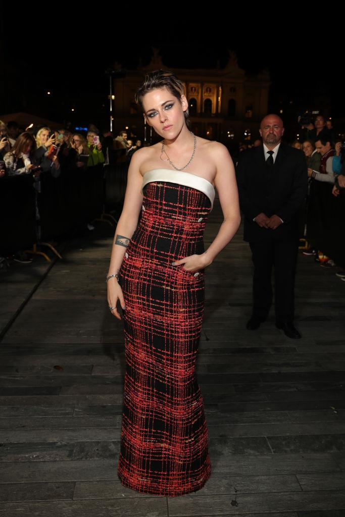 **Kristen Stewart**<br><br>  A little bit *Clueless*, a little bit grunge: Kristen Stewart's plaid Chanel Haute Couture dress from the 2019 Zurich Film Festival in October had '90s written all over it.
