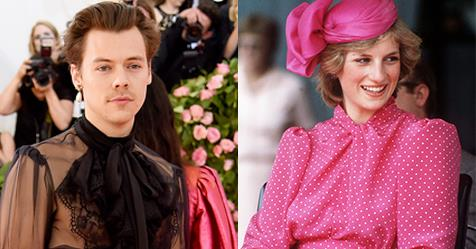 Harry Styles Recreated An Iconic Princess Diana Outfit | ELLE Australia