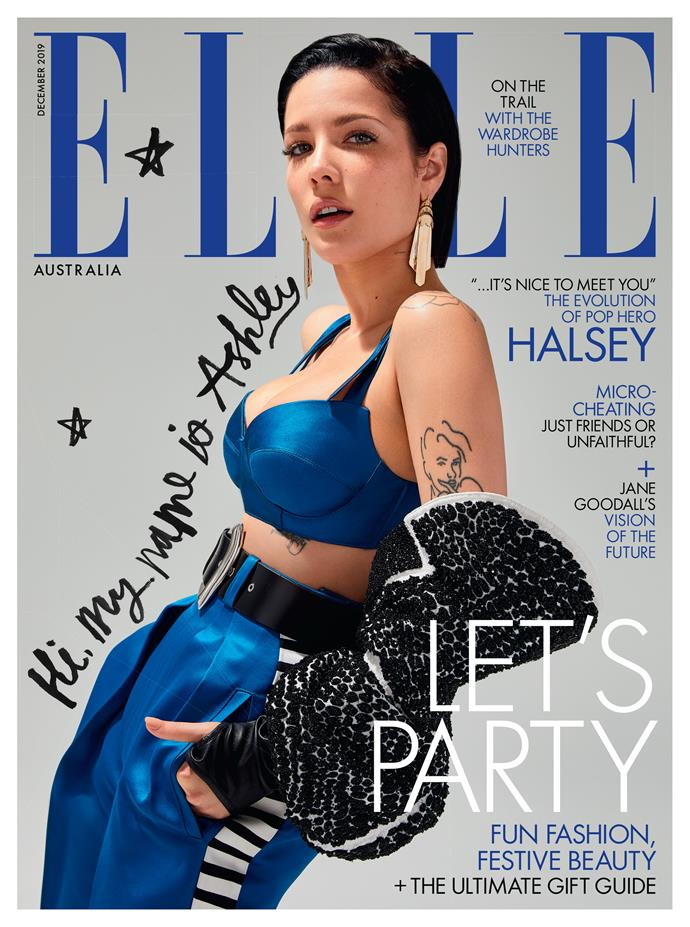 Halsey wears Louis Vuitton. Photographed by Kai Z Feng, styled by Naomi Smith, hair by Florido, makeup by Denika Bedrossian and manicure by Marisa Carmichael.