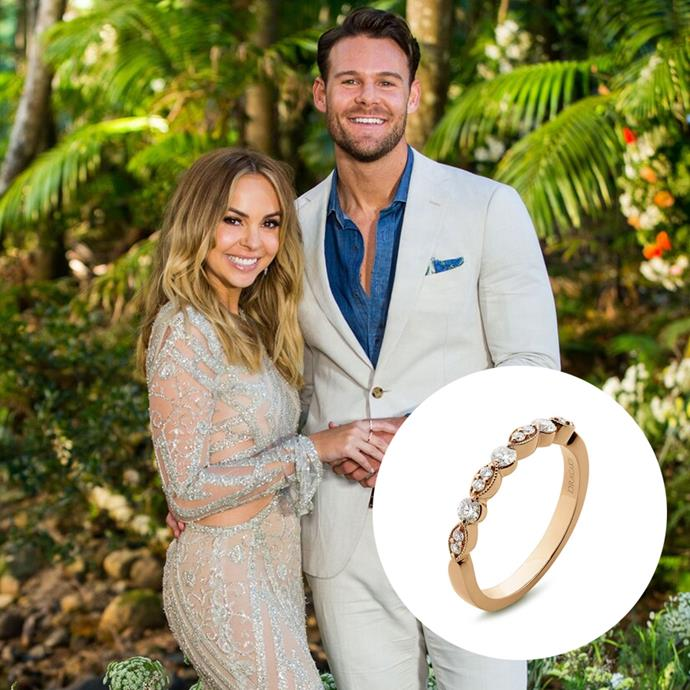 *Angie Kent, Carlin edition*<br><br> In the scheme of things, a decorated rose-gold band with diamonds isn't the worst. We mean, she's partial to a delicate ring and you *can* stack it. However, after booting a very sweet Timm from the show to get it, we'd expect maybe just a littttle more.<br><br> **6/10**