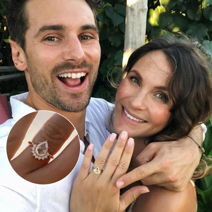 *Matty J, take two*<br><br> When Matty got down on one knee for real, he knew to embrace his fiancee's taste in jewellery a touch more. The end result—which, we *guess*, doesn't truly count in the *Bachelor/ette*-finale-rings thing—was gorgeous.<br><br> **9/10**