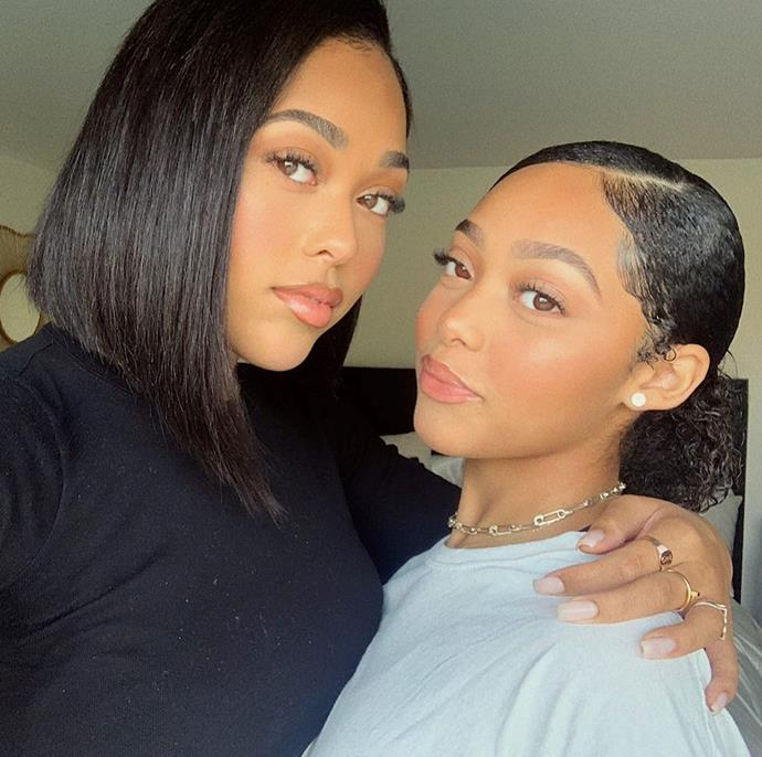 ***Jordyn and Jodie Woods***<br><br> We're actually convinced that Jordyn Woods and her younger sister Jodie might be the same person. Between their face shapes, hair and smiles, the only way we can tell them apart is by their height!