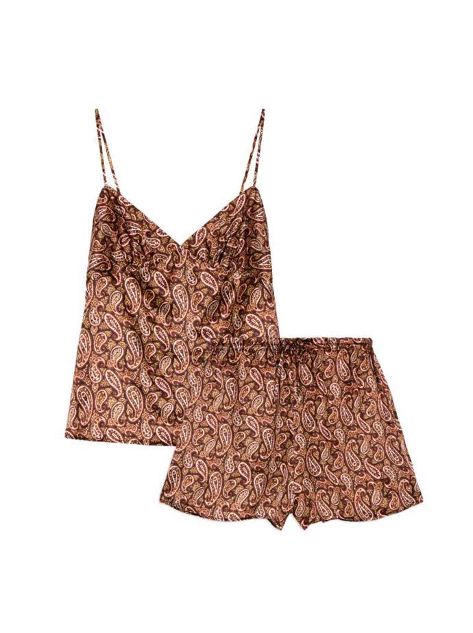 "Jean bloomer pyjama set, US$360 at [alexachung.com](https://www.alexachung.com/row/catalog/product/view/id/14543/s/d19cami-top-mini-bloomer-setc8036/category/3/|target=""_blank""|rel=""nofollow"")"