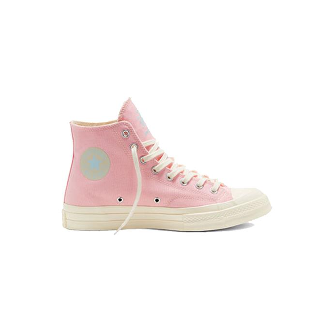 "Pink Golf Le Fleur high top sneakers, $110 by [Converse](https://www.converse.com/shop/tyler-the-creator|target=""_blank""