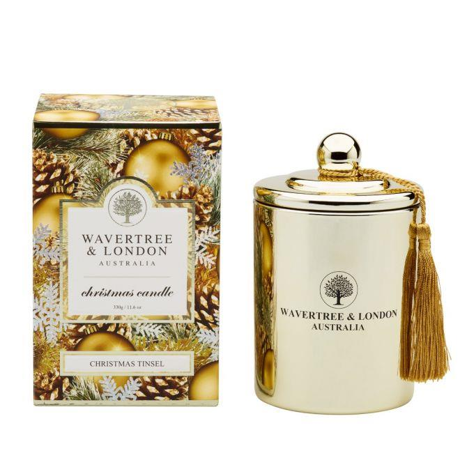 "**Christmas Tinsel Candle by Wavertree & London, $34.95 from [Myer](https://www.myer.com.au/p/wavertre-london-christmas-tinsel-candle|target=""_blank""