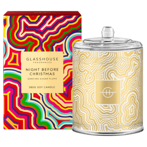 "**Merry and Bright 2018 by Glasshouse, $49.95 from [Adore Beauty](https://www.adorebeauty.com.au/glasshouse-candles/glasshouse-night-before-christmas-380g-triple-scented-candle.html|target=""_blank""