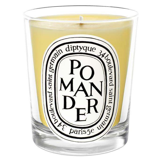 **Pomander Candle by Diptyque, $87 at MECCA**<br><br>  **Scent:** Orange, spicy cloves and cinnamon.