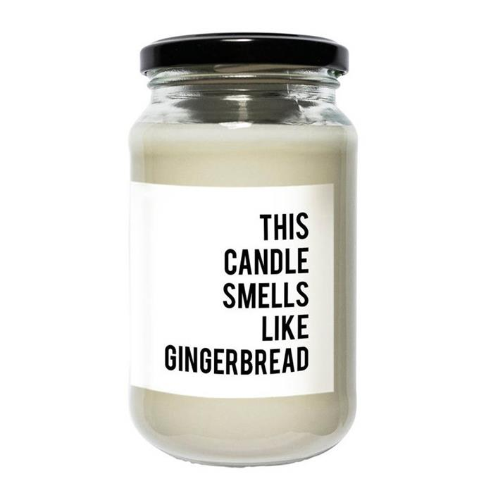 "**Regular Soy Candle - Gingerbread by The Prospect Project, $25.00 at [Myer](https://www.myer.com.au/p/the-prospect-project-regular-soy-candle-gingerbread|target=""_blank""