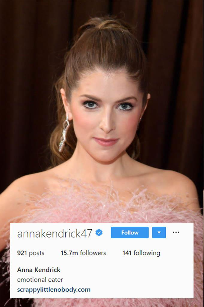 **Anna Kendrick**<br><br>  The honesty in this bio compels us to say: us too, Anna, *us too*.