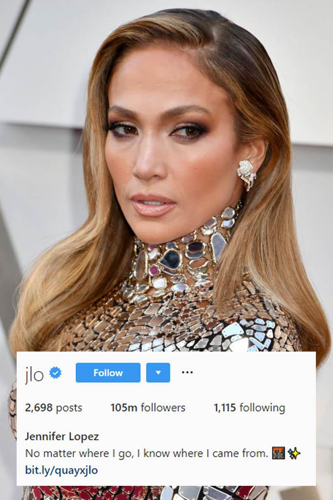 "**Jennifer Lopez**<br><br>  [*Hustlers*](https://www.elle.com.au/culture/hustlers-true-story-22410|target=""_blank"") star and all-round inspiration J-Lo knows where she came from. And how to quote herself. It's meta and we love it."