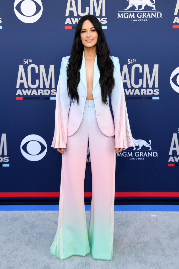 In a Christian Cowan suit at the 54th Academy of Country Music Awards in April 2019. <br><br> *Image: Getty*