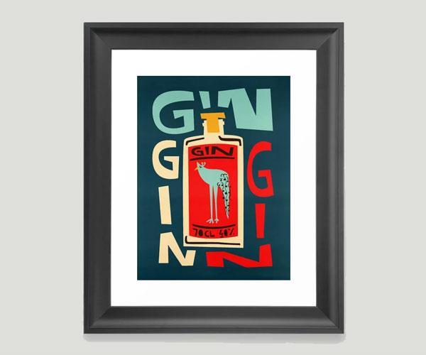 "Gin Gin Gin Framed Art Print, $38.99, Fox and Velvet at [society6](https://society6.com/product/gin-gin-gin_framed-print|target=""_blank""|rel=""nofollow"")."