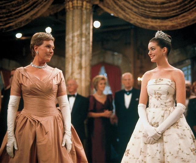 ***The Princess Diaries*** <br><br> Anne Hathaway plays Mia Thermopolis, an unassuming American teenager who discovers she was born the princess of a small European country.