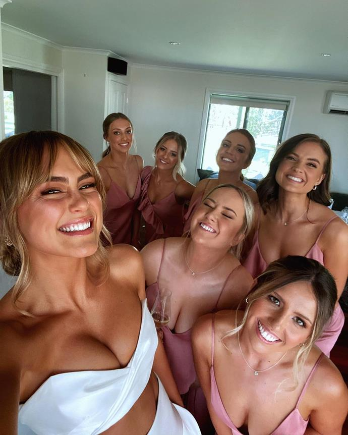 Steph Claire Smith and her bridal party.