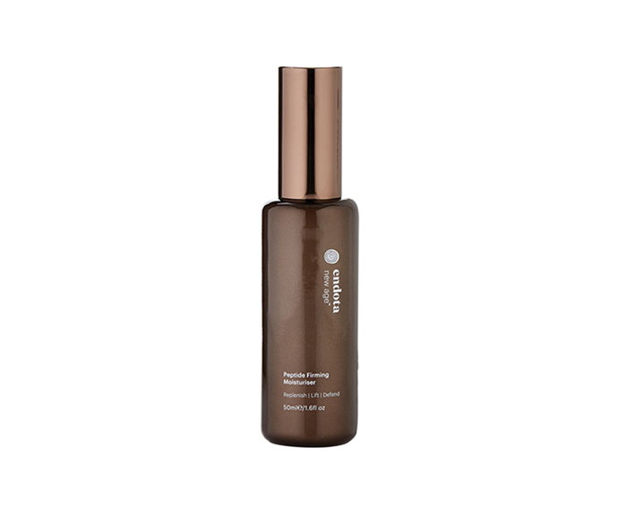 "**Peptide Firming Moisturiser, $110 at [endota spa](https://endotaspa.com.au/peptide-firming-moisturiser.html|target=""_blank"")** <br><br> If your brief is 'dewy dumpling skin', this deeply plumping moisturiser is a means to an extremely luminous end."