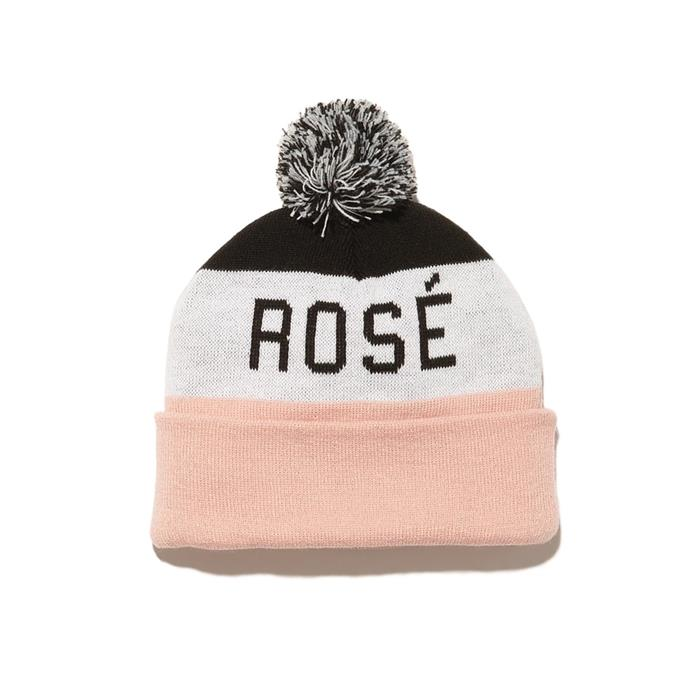 "Rosé beanie, $40 by [Yes Way Rosé](https://shop.yeswayrose.com/collections/all-products/products/yes-way-rose-beanie-hat|target=""_blank""