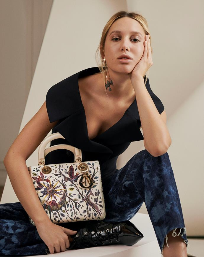 ***Lady Dior: Now*** <br><br> For 2020, the French fashion house has once again spotlighted the timeless design with its 'What's Ladylike' campaign, revisiting and re-imagining the Lady Dior through the lens of eight thoroughly modern trendsetters. As a result, we're coveting the classic all over again (pictured here on Princess Maria-Olympia of Greece).