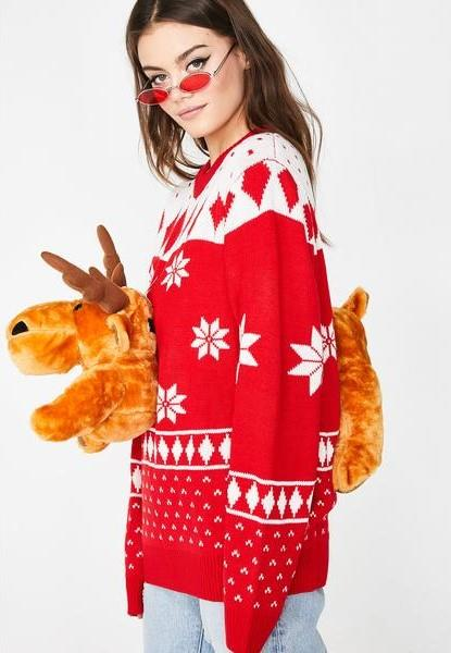"""It doesn't get much more delightfully hideous than having a plush moose strapped to your chest. <br><br> ***Lit 3D Christmas Moose Sweater, $88.52 at [Dolls Kill](https://www.dollskill.com/holiday-moose-sweater-red.html?currency=AUD&gclid=Cj0KCQiAt_PuBRDcARIsAMNlBdrov_B5QTklH_-z61HWJTg3lvY7owfoxOqk-lJg7BV6P8PAmmeBs-IaAl04EALw_wcB