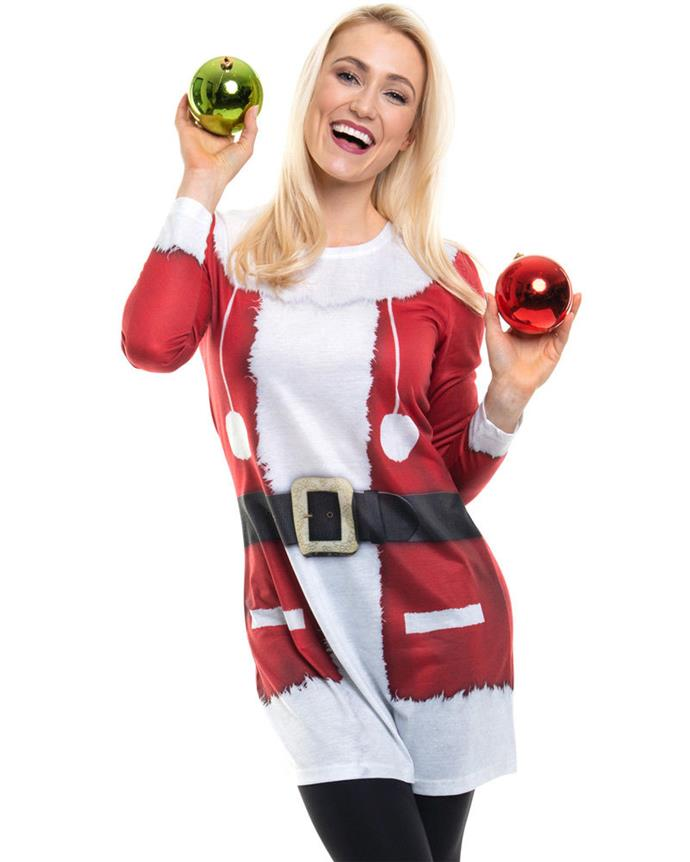 """Mrs. Claus, is that you? No, but you're doing a damn good impression. <br><br> ***Christmas Santa Womens Faux Real Dress, $48.99 at [CostumeBox](https://www.costumebox.com.au/christmas-santa-womens-faux-real-dress.html
