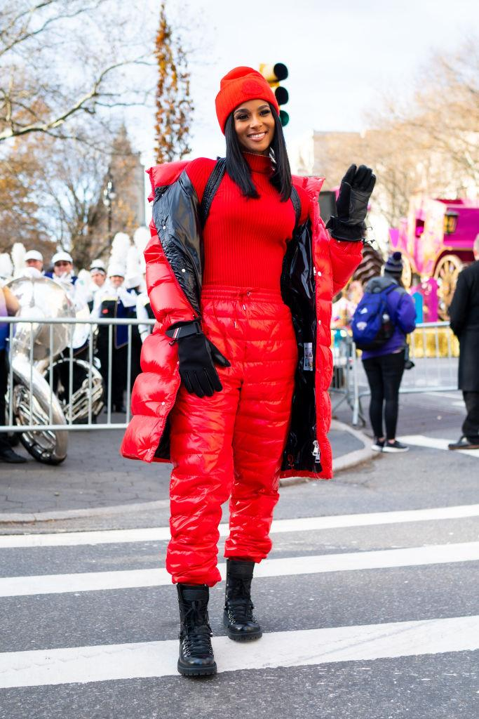 Ciara at the Macy's parade.