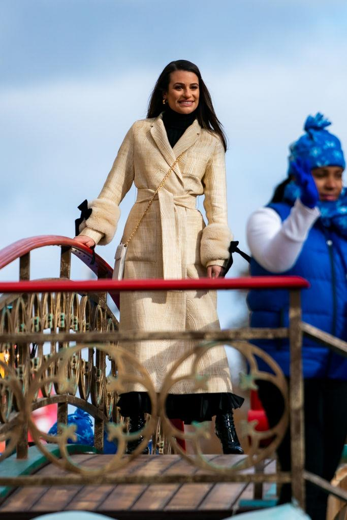 Lea Michele at the Macy's parade.