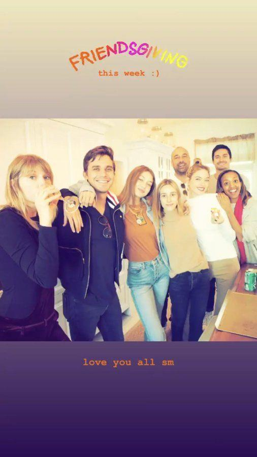 Gigi Hadid hosting a Friendsgiving with Taylor Swift, Antoni Porowksi and Martha Hunt.