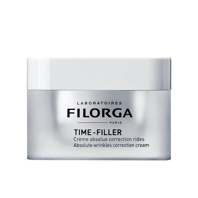 "*Filorga Time-Filler Absolute Wrinkle Correction Cream*<Br><br> A cult-favourite among the French, Filorga's ""Time-Filler"" cream is a gentle fix for wrinkles and fine lines."