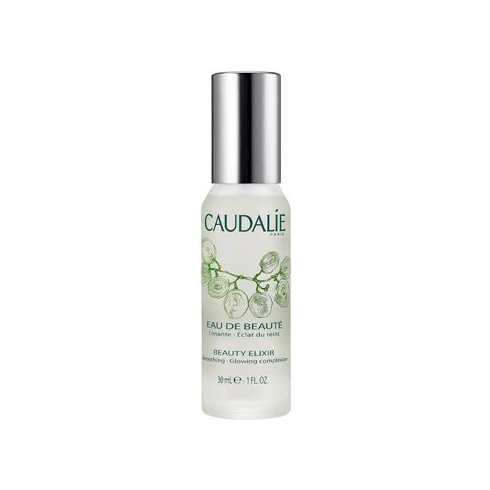 *Caudalie Beauty Elixir*<br><br> Invigorate and refresh skin with this radiance-boosting spray, which incorporates extracts of grape, rosemary, orange blossom, rose, myrrh and organic balm mint.