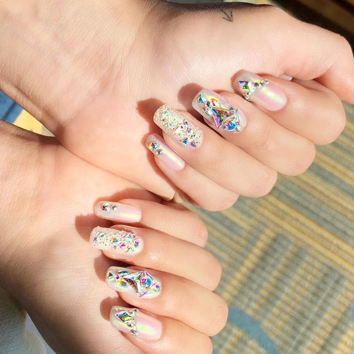 "**Bejewelled Nails**<br><br>  Bejewelled nails have been not-so-quietly on the rise for a while now, and 2020 is likely to see a continuation of this trend. From light-catching crystals (as seen here on Selena Gomez) to subtle pearl motifs, ornamental accents will run the gamut across maximal look-at-me designs and low-key luxe.<br><br>  *Image via [@tombachik](https://www.instagram.com/p/B5VZpHHnCtK/|target=""_blank""