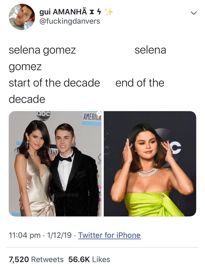 "**Selena Gomez** <br><br> *[Twitter](https://twitter.com/fuckingdanvers|target=""_blank""|rel=""nofollow"")*"