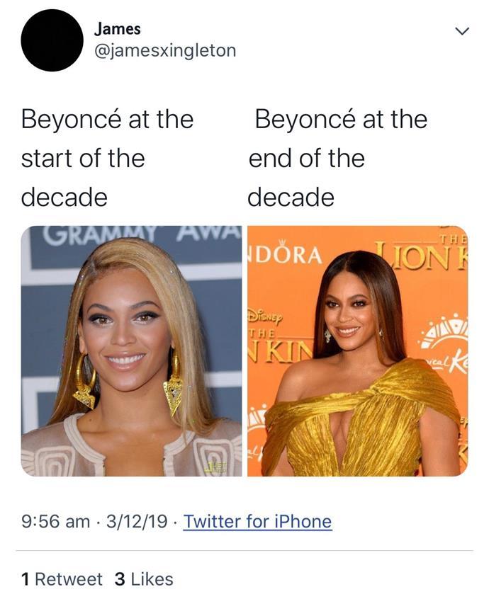 "**Beyoncé** <br><br> *[Twitter](https://twitter.com/jamesxingleton|target=""_blank""|rel=""nofollow"")*"