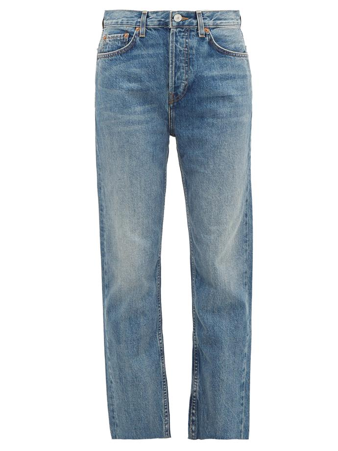 "THE JEANS: Re/Done jeans, $337 from [MATCHESFASHION.COM](https://www.matchesfashion.com/au/products/Re-Done-Originals-Rigid-Stove-Pipe-cotton-high-rise-jeans--1154527|target=""_blank""