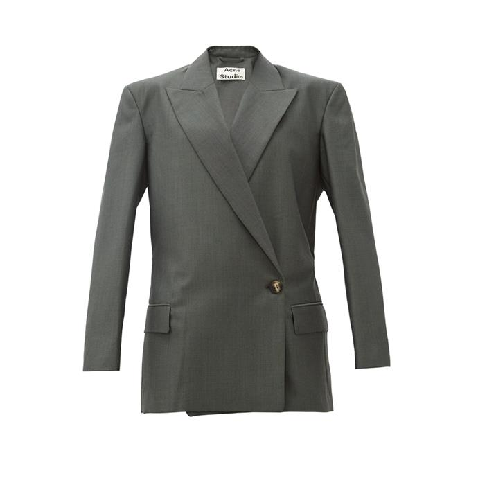 "THE BLAZER: Oversized blazer, $960 from [Acne Studios](https://www.acnestudios.com/au/en/belted-jacket-black/AH0042-900.html|target=""_blank""