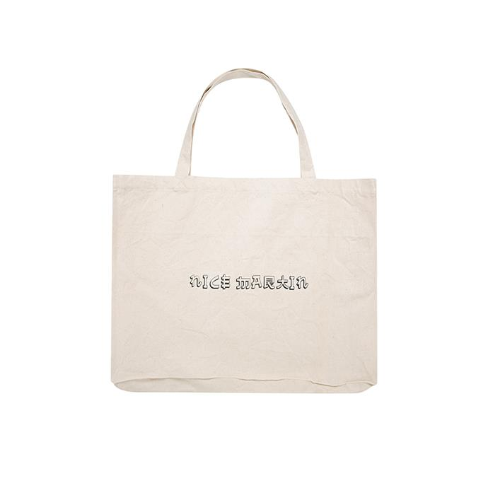"THE TOTE BAG: Canvas tote bag, $30 from [Nice Martin](https://www.nicemartin.com/collections/all/products/a14-nice-martin-tote|target=""_blank""