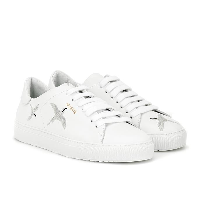 "THE SNEAKERS: Axel Arigato white leather sneakers, $285 from [MYTHERESA](https://www.mytheresa.com/en-au/axel-arigato-clean-90-leather-sneakers-1329813.html?catref=category|target=""_blank""
