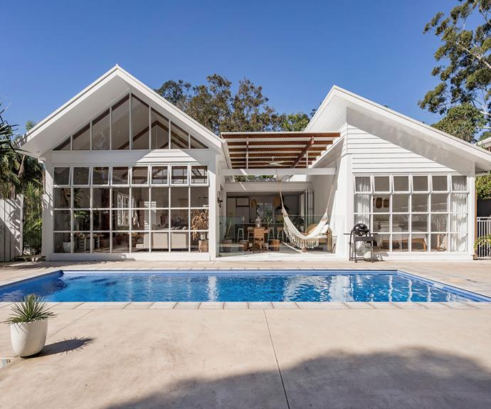 "**Boho Escape, Byron Bay** <br><br> Good luck ever getting out of the poolside crochet hammock. <br><br> [Book through Airbnb here.](https://www.airbnb.com.au/rooms/plus/29246802?adults=6&source_impression_id=p3_1574723779_v0n96p4%2FJal9za4f|target=""_blank""