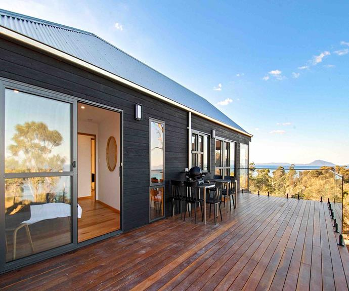 "**Rocky Ridge, Rocky Hills, Tasmania** <br><br> This brand new stone house is built on a convict heritage site. The two-bedroom, two-bathroom beach house features huge glass windows that capture sweeping views over Great Oyster Bay, the Freycinet Peninsula, Schouten Island and Maria Island. <br><br> [Book through Airbnb here.](https://www.airbnb.com.au/rooms/34819050?adults=6&source_impression_id=p3_1574727944_VLjx37iw8rvoB7Tz|target=""_blank""